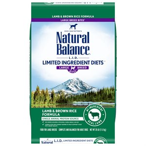 Natural Balance LID Adult Lamb & Rice Large Bites 26 LB
