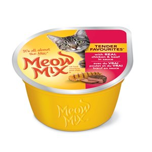 Smuckers Meow Mix Tender Favourites Chicken & Beef Wet Cat Food 24 / 78g