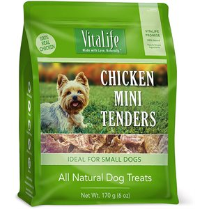 VitaLife Dog Jerky Treats Chicken Mini Tenders 170g