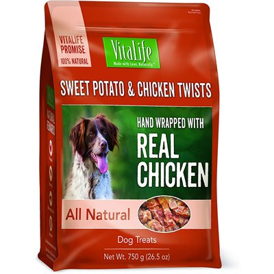 VitaLife Dog Jerky Treats Sweet Potato & Chicken Twists 750g