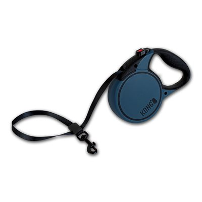 KONG Retractable Tape Leash Terrain Small Blue 5m up to 20KG
