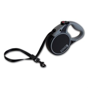 KONG Retractable Tape Leash Terrain Medium Black 5m up to 30KG