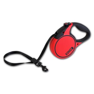 KONG Retractable Tape Leash Terrain Medium Red 5m up to 30KG