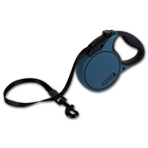 KONG Retractable Tape Leash Terrain Large Blue 5m up to 50KG
