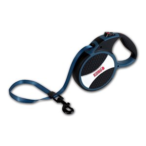KONG Retractable Tape Leash Explore Large Blue 7.5m up to 50KG
