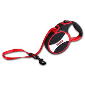 KONG Retractable Tape Leash Explore Large Red 7.5m up to 50KG