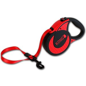 KONG Retractable Tape Leash Ultimate Extra Large Red 5m up to 70KG