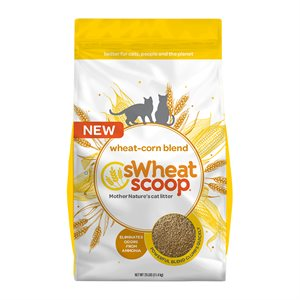 sWheat Scoop Clumping Wheat & Corn-Based Cat Litter 25LB