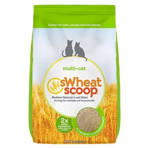 sWheat Scoop Multi-Cat Clumping Wheat-Based Cat Litter 12LB