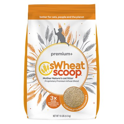 sWheat Scoop Premium+ Clumping Wheat-Based Cat Litter 10LB