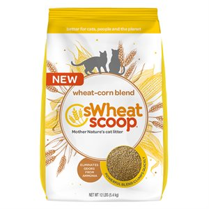 sWheat Scoop Clumping Wheat & Corn-Based Cat Litter 12LB